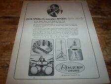 ROGERS DRUMS ( DYNA SONIC ) 1964 JACK SPERLING Vintage US Jazz magazine PROMO Ad