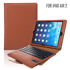 New Leather Case+Bluetooth Keyboard For Apple iPad Air 2 With Stand Wireless Pad