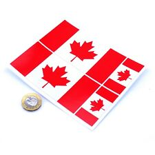 "Canada Flag Stickers x4 3"" & 2"" Canadian Car Vinyl Rally Racing Window Decals"