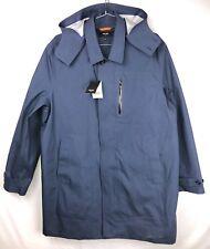 Jack Spade Men's 2xl Navy Waterproof Cotton Trench Coat With Hood