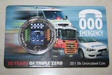 (PL) 2011 AUSTRALIA 50 Years Triple Zero Emergency Call Service 50C UNC Coin