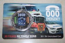 (PL) 2011 AUSTRALIA 50 Years Triple Zero Emergency Call Service 50C UNC Coin