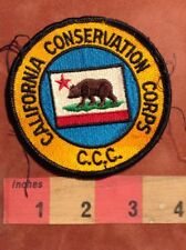State Flag Themed CALIFORNIA Patch Grizzly Bear Brown Bear S00Z
