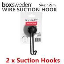 2 x Wire Suction Hook 12cm Wall Hanger Bathroom Shower Home Door Metal Holder