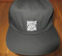 Vans Mens Street Style California Native Black Strap-back Hat Cap NWT Free Ship
