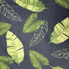 Floral Large Leaf Quilting Fabric Blue Green New Cotton FQ Poplin