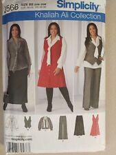 Simplicity 2566 Misses Khaliah Ali Skirt Dress Vest Blouse Pants Sizes 20W - 28W