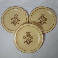 "Pfaltzgraff Village 10"" Vintage Dinner Plates - USA Made Set of 3"