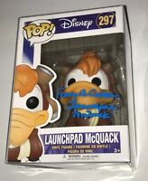 TERRY MCGOVERN Signed LAUNCHPAD McQUACK Pop Vinyl Funko Toy JSA COA Autograph