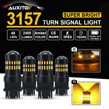 New listing 4X Auxito 48 Smd 3157 3057 3457 Amber Yellow Led Turn Signal Lamp Bulbs Light
