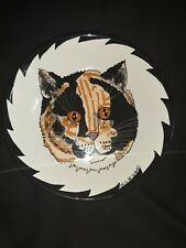 Hand Painted Collectible Cats By Nina Lyman Calico Cat Face Bowl 8�