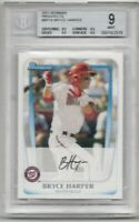2011 Bowman Prospects #BP1A PHILLIES Bryce Harper Rookie Card Graded PSA BGS 9