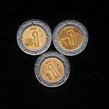 (3) 1 Peso Mexico 1993-1994 & 1996 -Ship 50Cts Per item Added