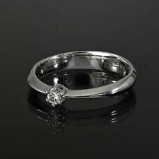 Brillant Silberring 925/- rhodiniert. Diamant 0,07 ct. W/P1