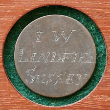 More details for a georgian love token, engraved halfpenny c.1690's. iw, lindfield sussex.