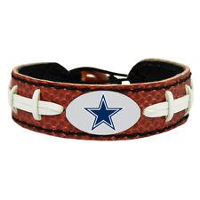 Dallas Cowboys Logo Bracelet Genuine Football Leather NFL New