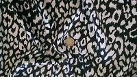 Black & White Leopard Animal Print Slinky satin fabricMaterial   FREE UK P&P