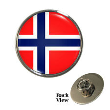 Norwegian Flag Metal Pin Badge norway nordic world cup norge Brand New