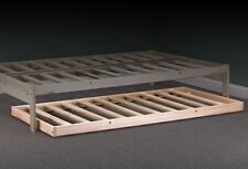 New Roll-Away Trundle, Twin Size Hardwood Bed Frame