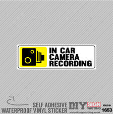 2 x IN CAR CAMERA RECORDING LORRY VAN TAXI CAR SAFETY Self Adhesive Sticker