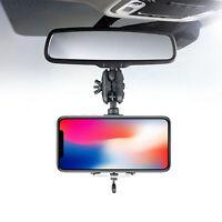 Einstellbar Auto Spiegel Montieren Handy Telefon Halter GPS Halterung Stand Neu
