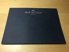 Booklet Folleto DeLaCour - BiChrono Collection - French - Watches Relojes
