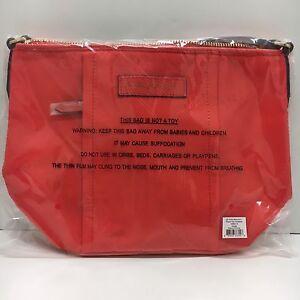 NWT Vera Bradley Preppy Poly Crossbody Bag in Orange