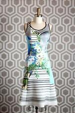 Clover Canyon A-line Neoprene Dress Small S $295 Floral Stripe