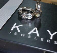 Kays Kay Jewelers® sterling silver infinity huggie hoop cz Earrings