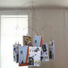 Kikkerland Copper Hanging Photo Clip Holder Mobile Clip - Holds 20 Photos
