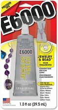 E6000 Jewelry & Bead 1oz w/tips Adhesive Permanent Glue Rhinestone Crystal Clear
