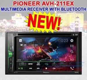 """PIONEER AVH-221EX CD DVD MULTIMEDIA RECEIVER 6.2"""" WVGA CLEAR RESISTIVE DISPLAY"""