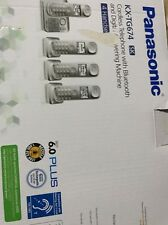 Panasonic 4 Handset Link2Cell Cordless Phone System Via Bluetooth BRAND NEW