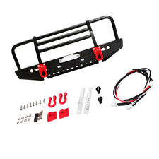 Front Bumper w/ LED Light for 1/10 RC Crawler Traxxas Rc4wd Axial scx10 D90