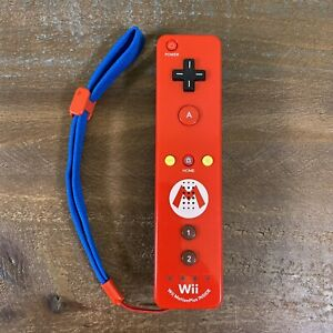 Nintendo Wii Super Mario Controller MotionPlus Red And Blue RVL-036 Tested,Works