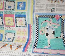 Daisy Kingdom Birthday Bunny Project Panel New Old Stock 100% cotton fabric