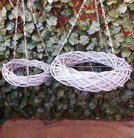 Over Table Grey Willow Wicker Overhead Hanging Wreath Home Wedding Christmas