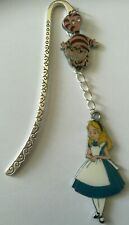 ALICE IN WONDERLAND CHARMS SILVER BOOKMARK IN GIFT BAG Birthday Christmas 705