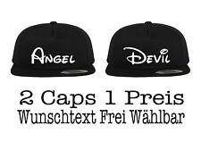 Angel DEVIL snapback CAP 2 pièces partenaire Look a couple beaucoup de couleurs xs - 5xl