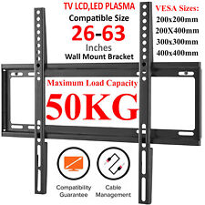 TV WALL BRACKET MOUNT SLIM FOR 26 30 32 40 45 50 55 60 63 INCH 3D LCD LED PLASMA