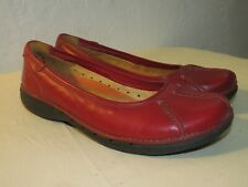 Unstructured by Clarks Womens Shoes Slip on Loafers Dark Red Size 9 M