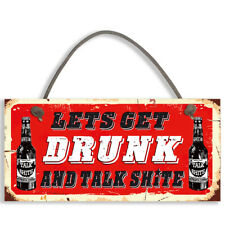 Funny Alcohol Sign Man Cave Home Bar Pub Hanging Plaque Vodka Gin Beer #1097