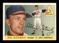1955 Topps Set Break # 191 Ed Stanky EX-MINT *OBGcards*