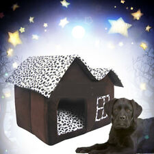 Indoor Pet Dog House Cage Bed Kennel Puppy Cat Cabin Cushion Mat Washable Pad