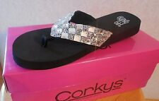 Corky's Gypsy Girl Sparkle   Flip Flops Shoes Sandals Sizes  7, 9