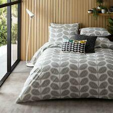 Orla Kiely KING Duvet Cover & 2 Pillowcases - Botanical Stem Pebble - New