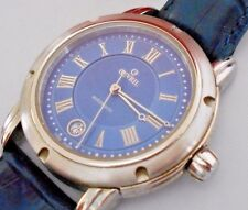 Mint Men's Gevril A0111R Automatic Date Blue Swiss Watch and Box  #1449