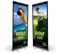 """33"""" x 80"""" Smooth Full Color  Banner for Roll Up Stand Display High definition"""