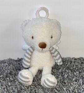 Hallmark MY GUARDIAN ANGEL BEAR Plush Gray Stripes Baby Lovey Stuffed Toy Wings