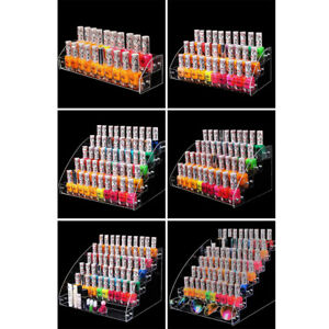 Clear Acrylic Nail Polish Tiers Cosmetic Varnish Display Stand Rack Organizer